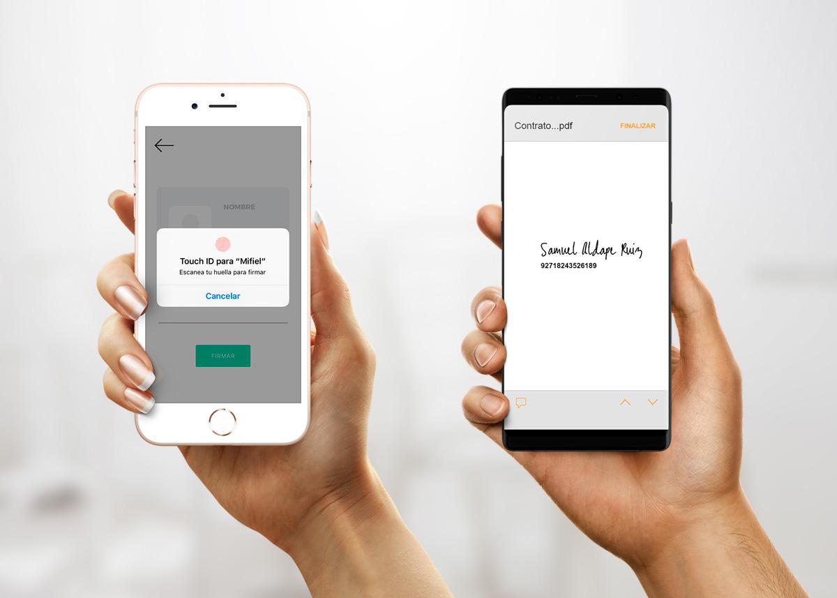 Aplicaciones móviles, firmando con Mifiel vs. firma en servicio FES